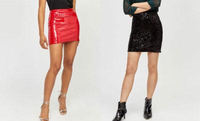 minifaldas de lentejuelas